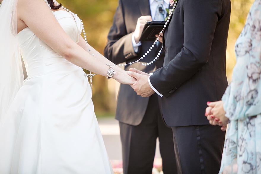 lasso around the bride & groom