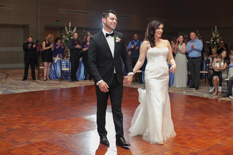 bride & groom take to the dance floor