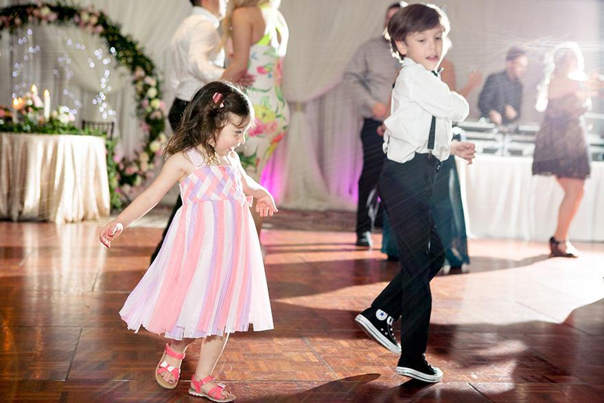 celebrating on the dance floor