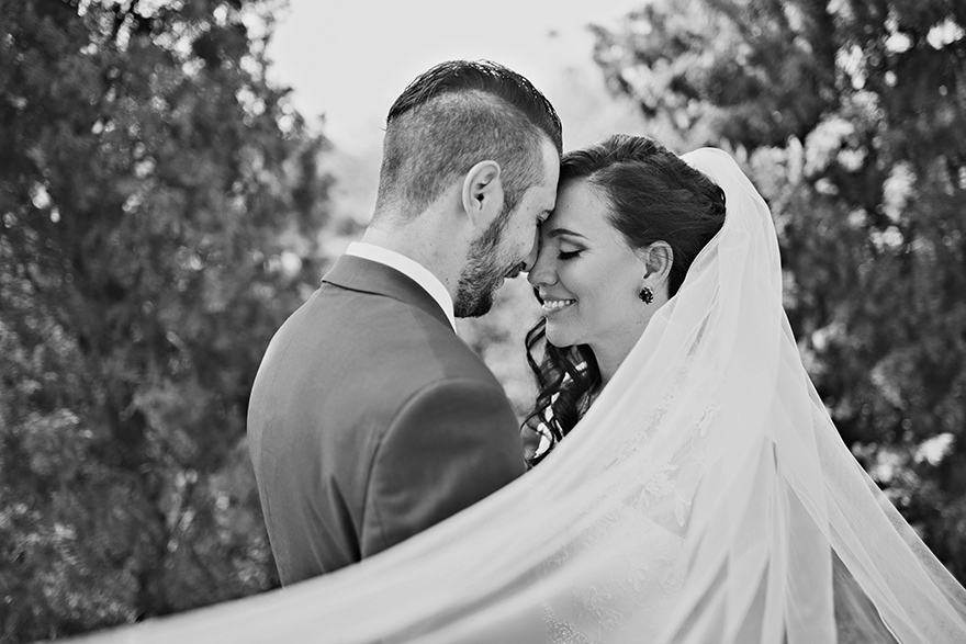 dreamy bride & groom