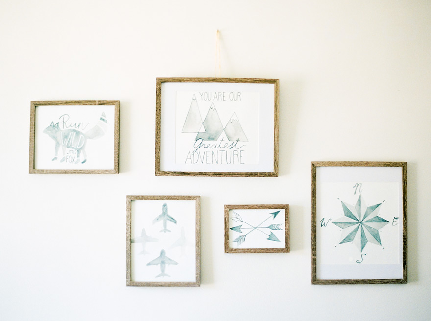 modern nursery decor with adventure theme