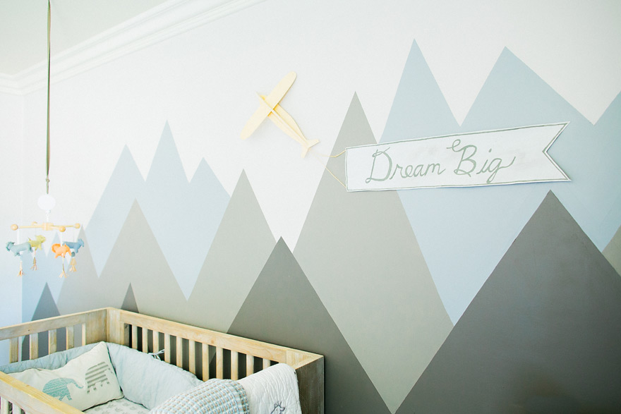 Baby diego newborn lifestyle portraits phoenix for Diy mountain mural