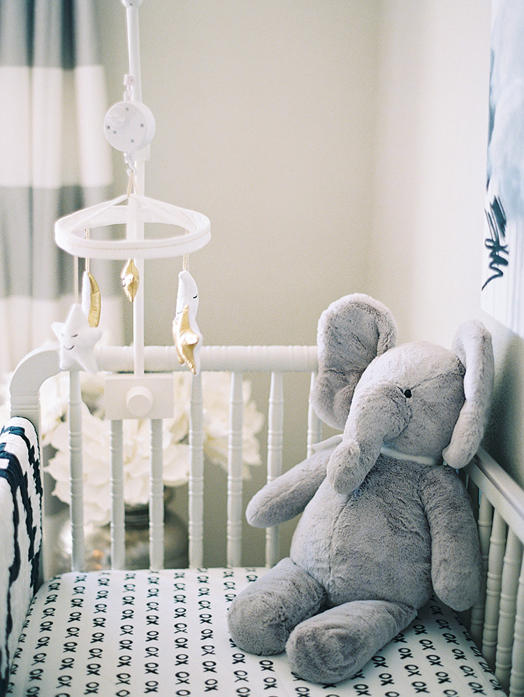 modern gray nursery