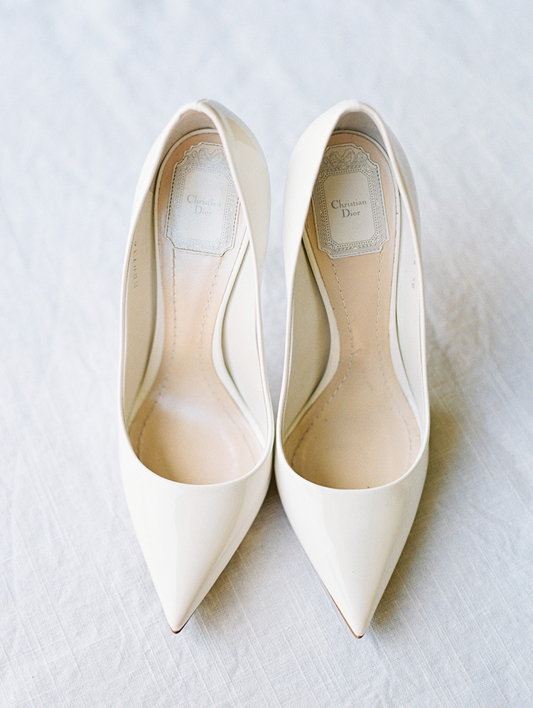 Christian Dior shoes for the bride