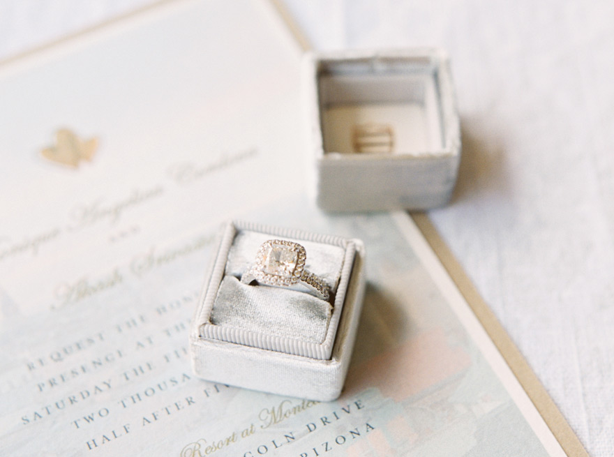 stunning square engagement ring
