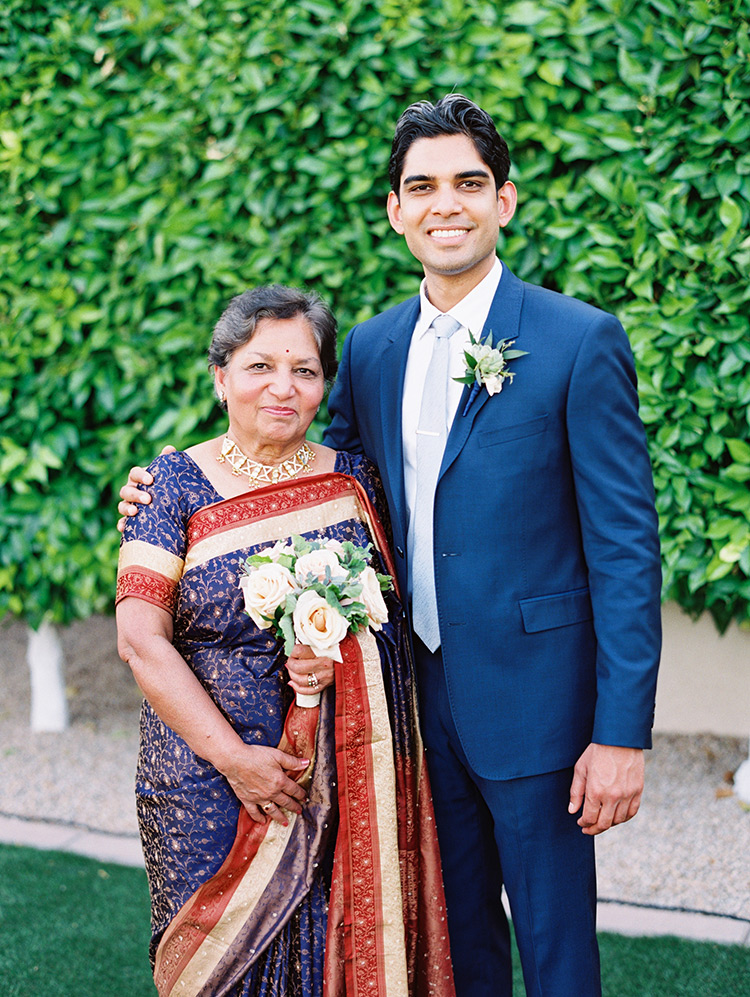 mother-of-the-groom in a lovely sari