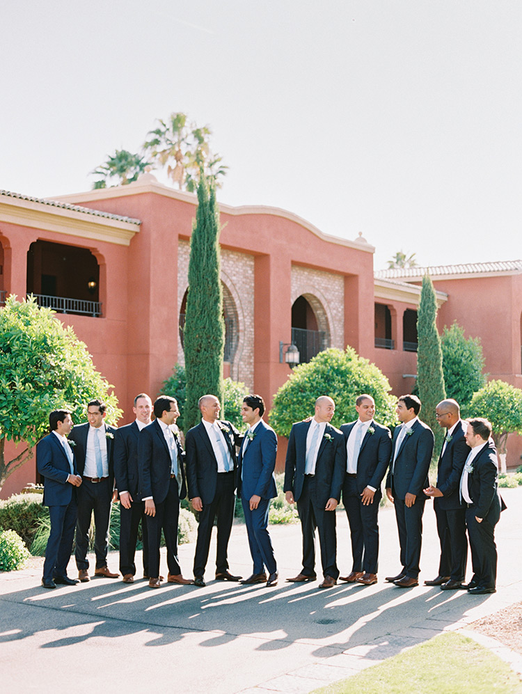 stylish groomsmen at a Montelucia wedding in Scottsdale