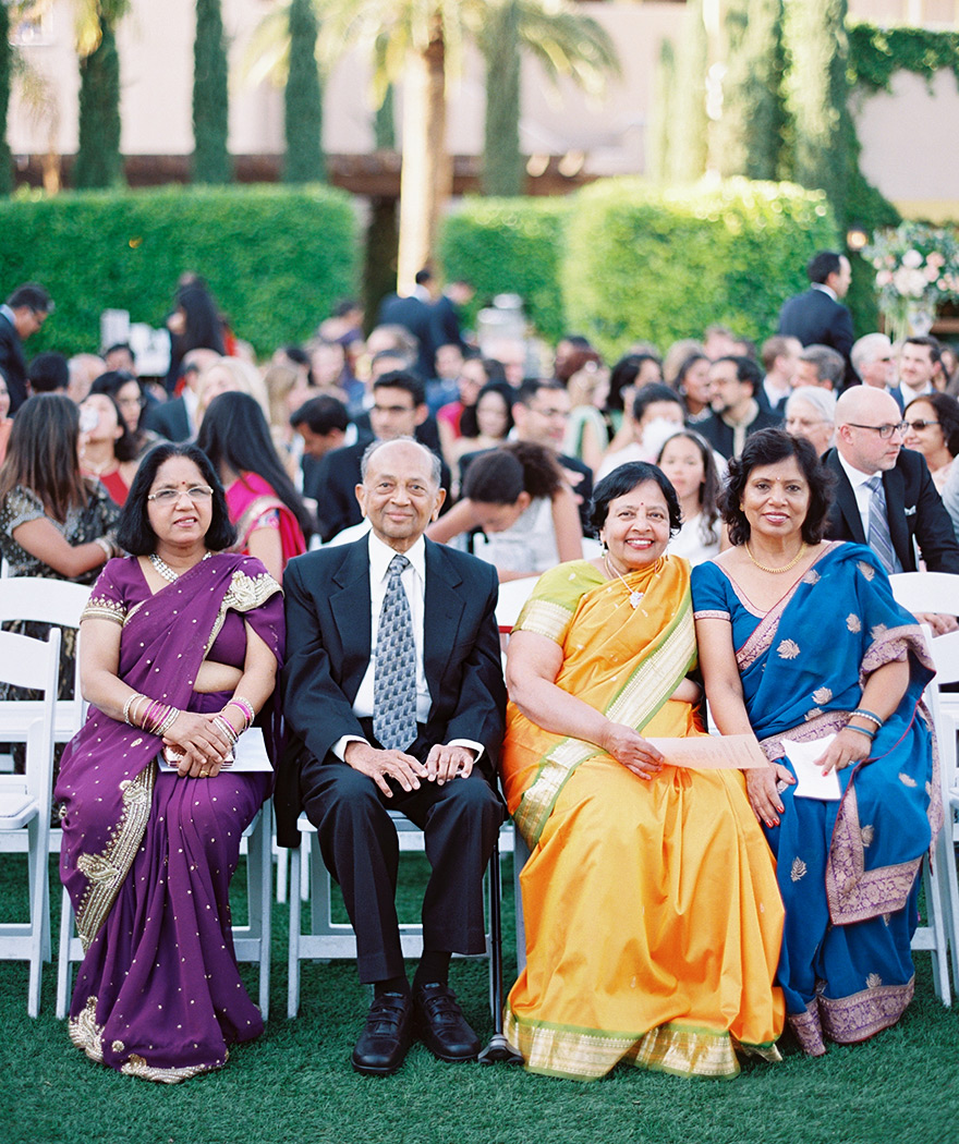 wedding guests wearing saris