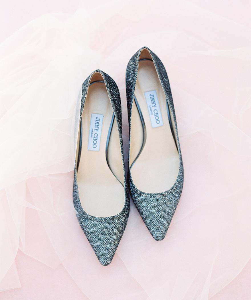 shimmery Jimmy Choo shoes