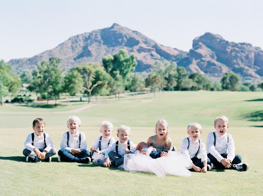children in the wedding party