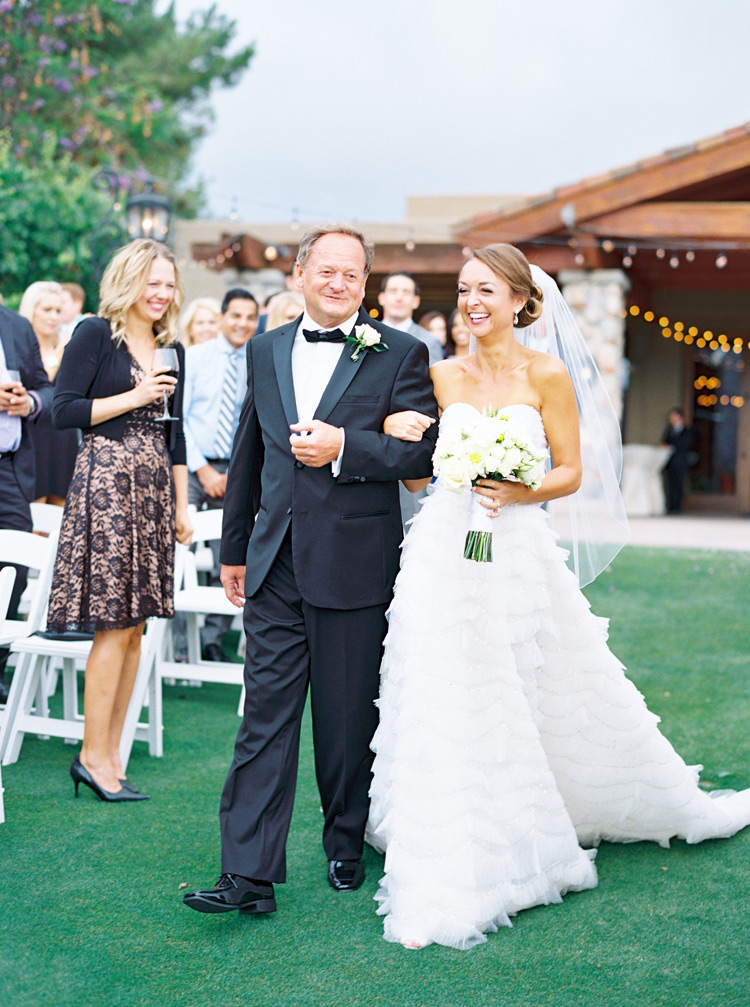 Bride laughs her way down the aisle! Outdoor wedding ceremony