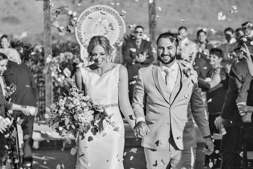 recessional with rose petals
