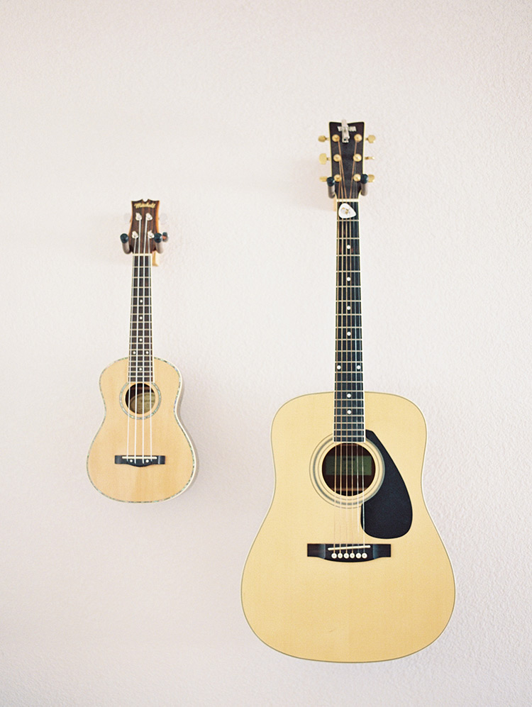 ukulele and guitar