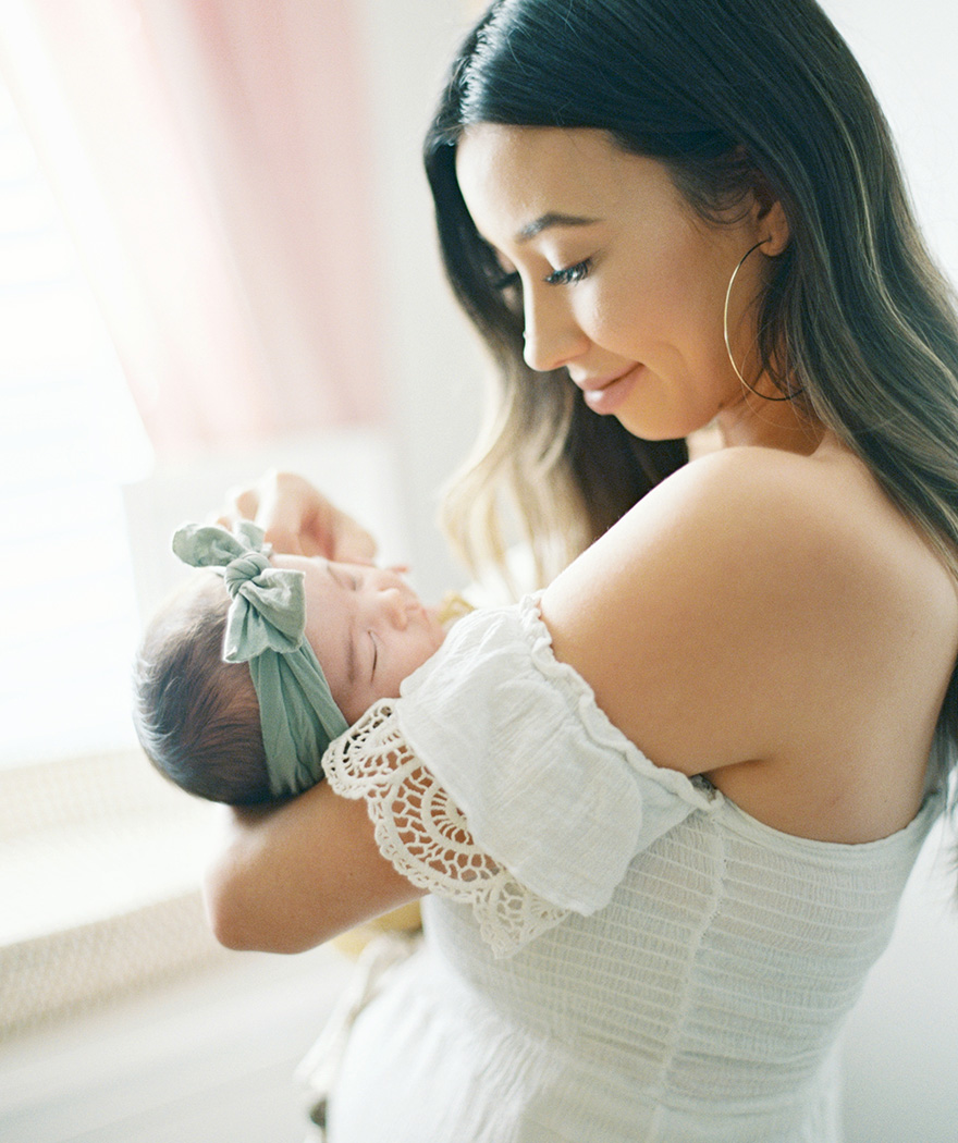 mother and newborn baby girl