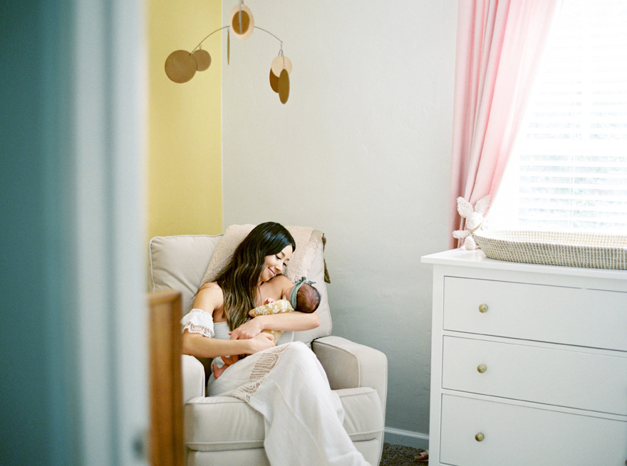 newborn lifestyle photos on film