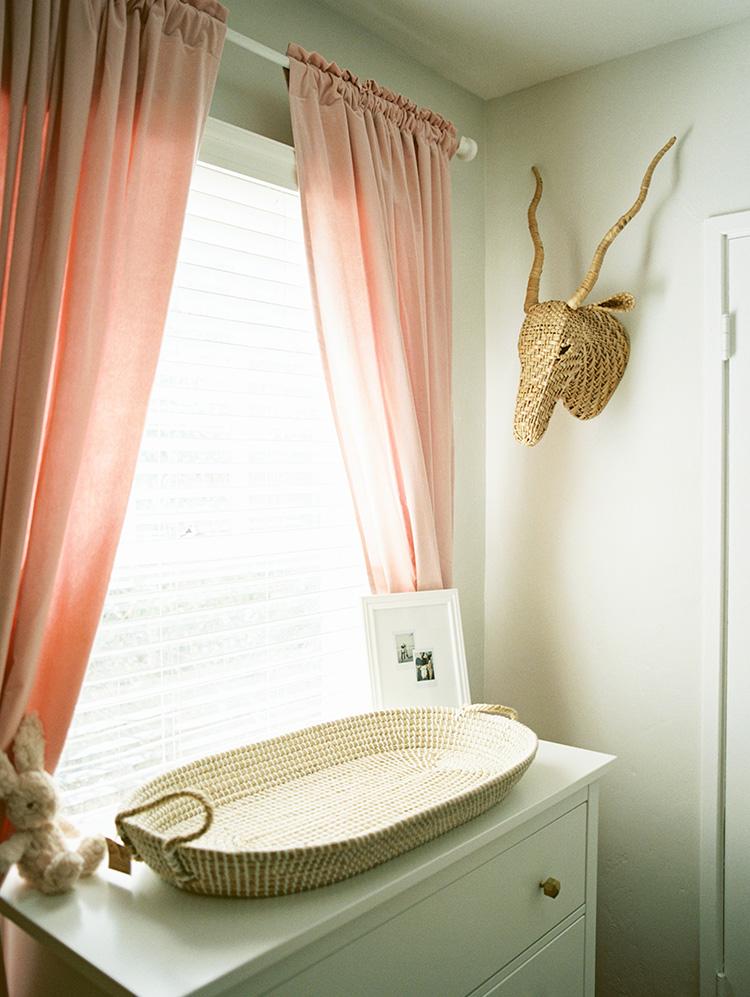 modern nursery with soft, minimal aesthetic