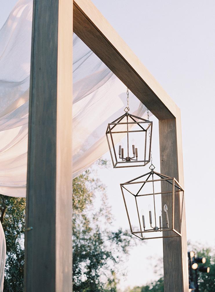 outdoor wedding reception at El Chorro