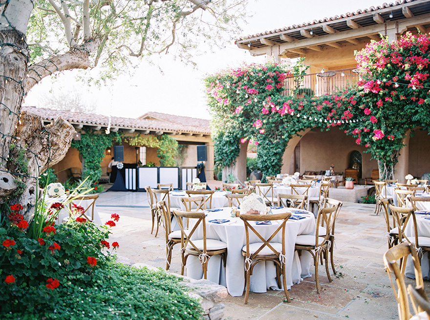 outdoor wedding reception at The Country Club at DC Ranch