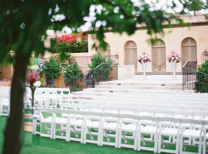 outdoor wedding reception at Royal Palms