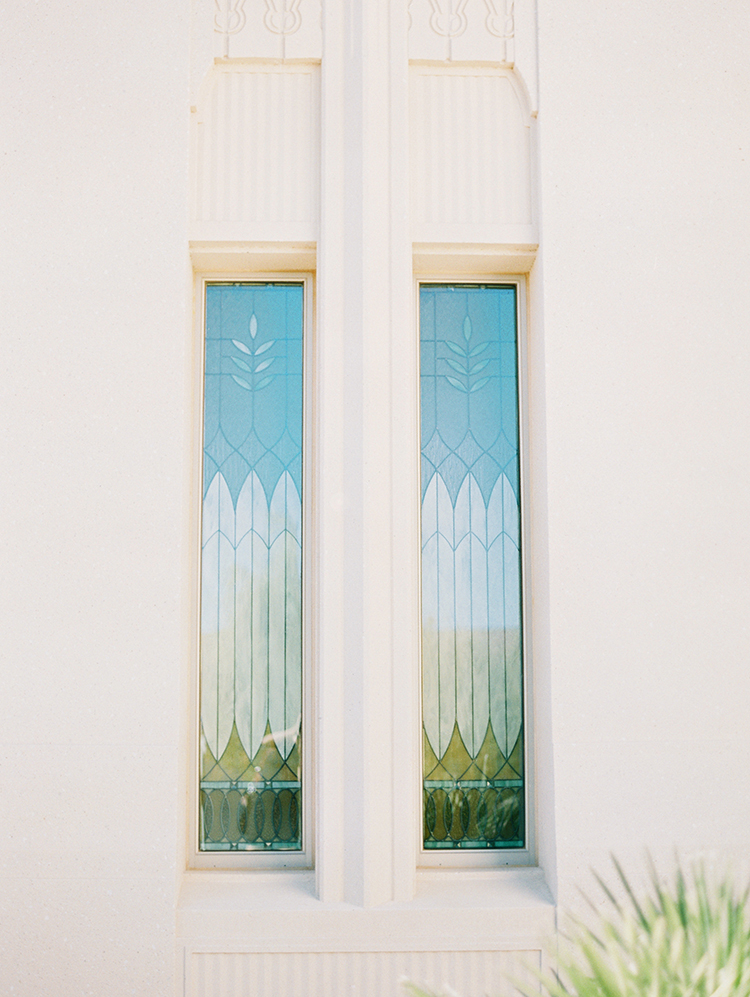Phoenix LDS temple windows