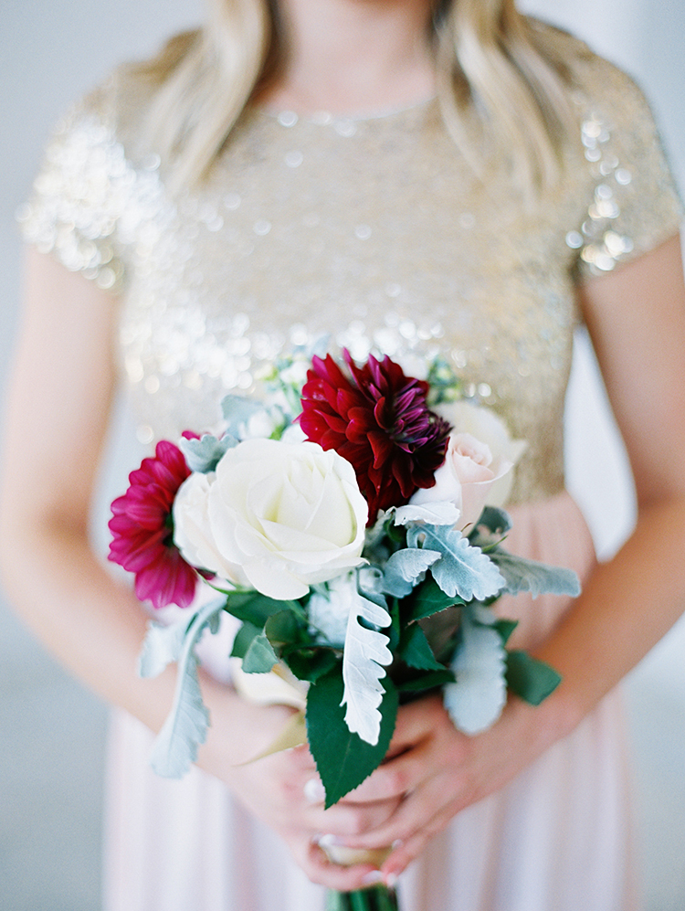 burgundy and white bridesmaid bouquet