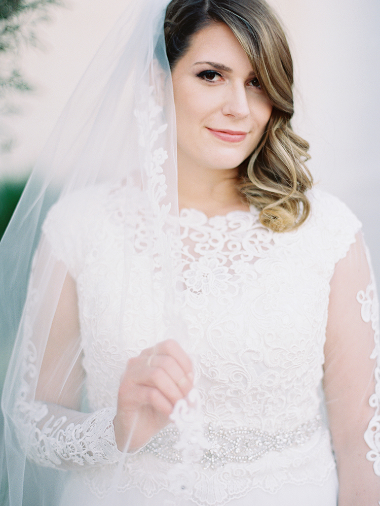 bridal portrait with a veil