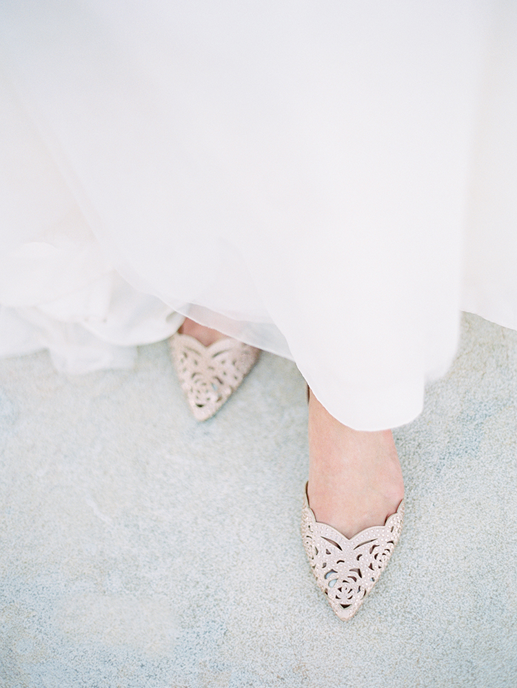 blush wedding flats