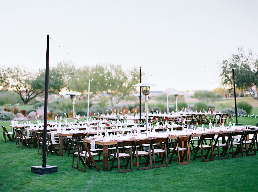 outdoor reception at Trilogy at Vistancia Golf Club