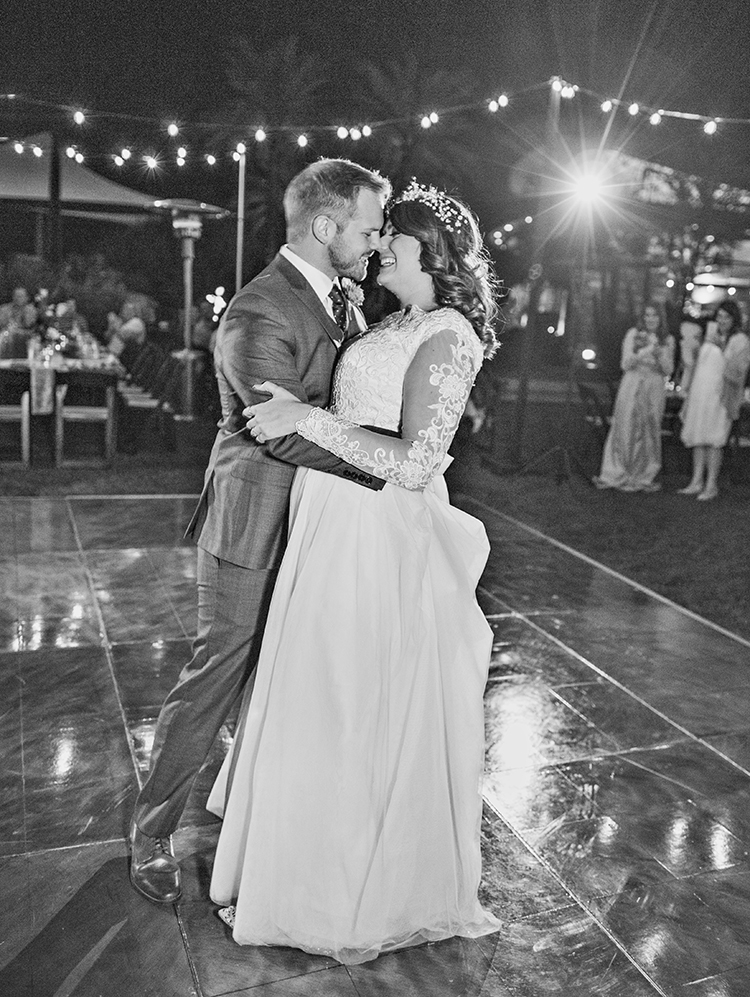 first dance outdoor reception
