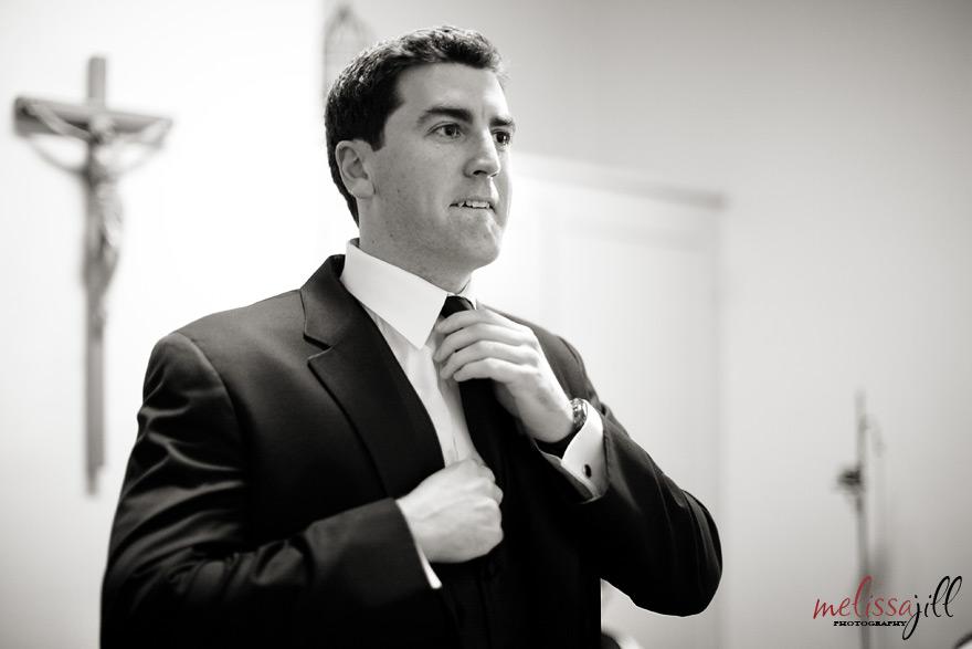 groom Brophy Chapel Wedding Phoenix Arizona