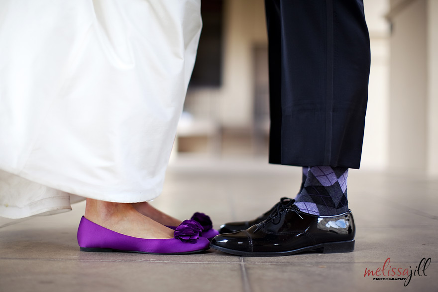 wedding shoes funky socks Brophy Chapel Wedding Phoenix Arizona