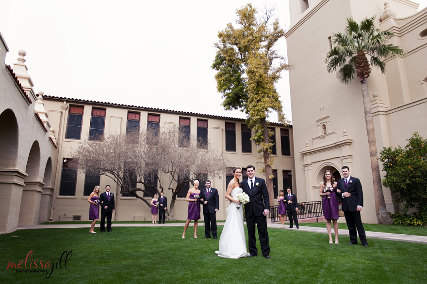 bridal party Brophy Chapel Wedding Phoenix Arizona