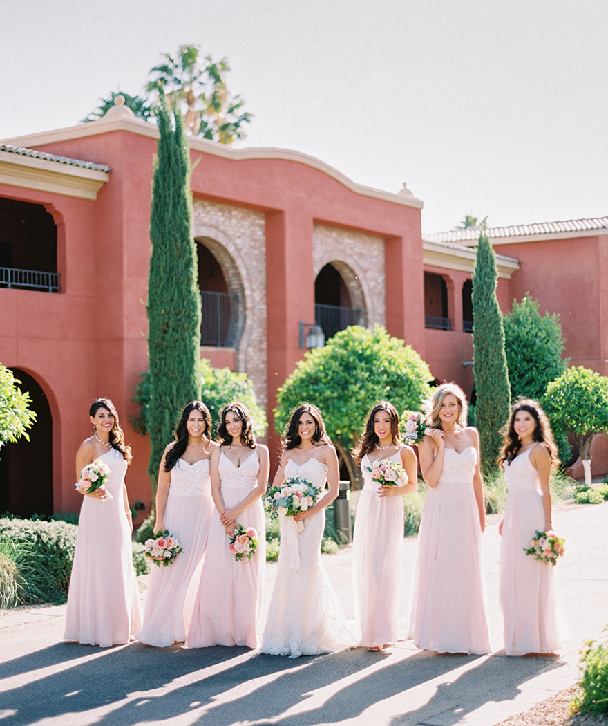 bridesmaids at the Omni Scottsdale Resort at Montelucia
