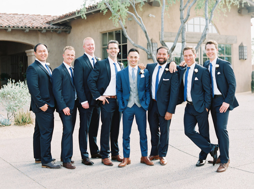 large party of groomsmen at the Country Club at DC Ranch