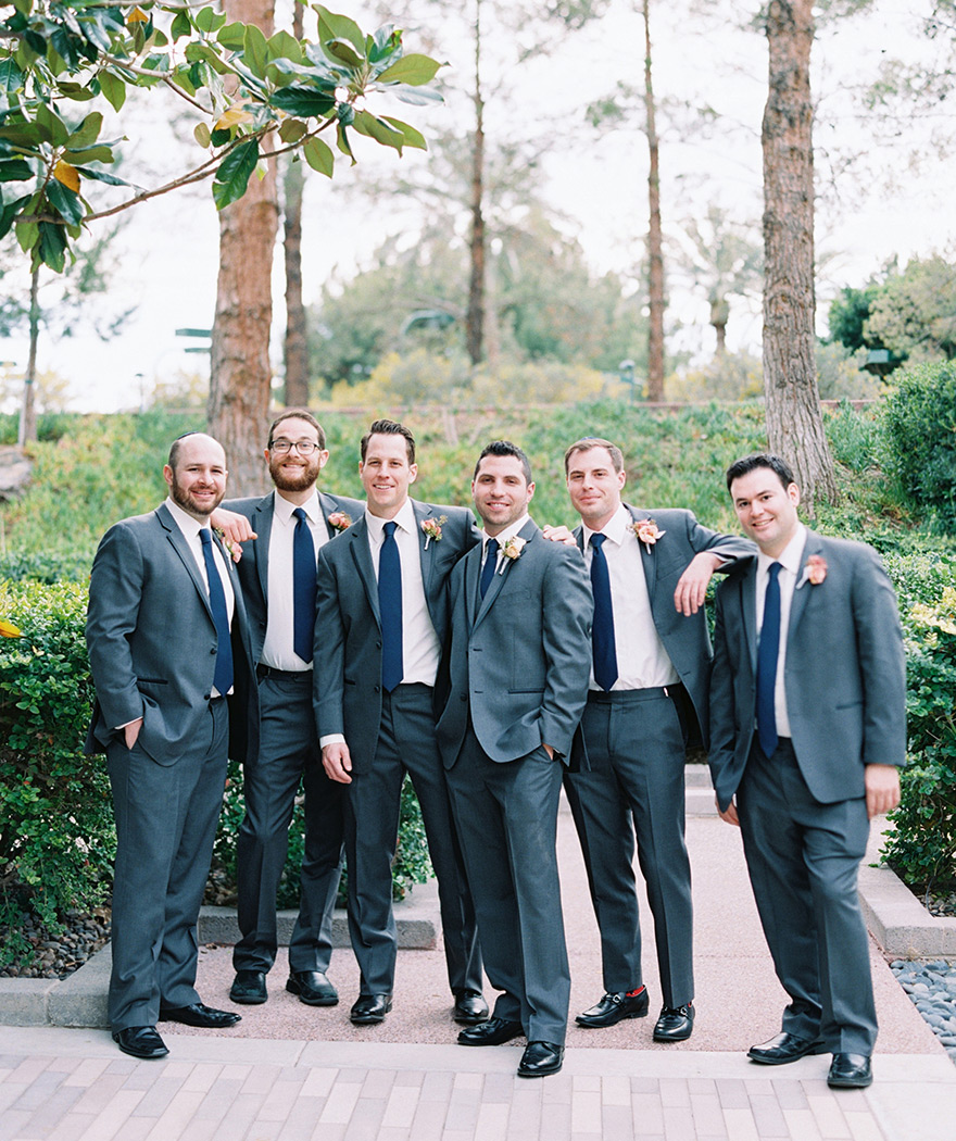 groomsmen at the Hyatt Scottsdale at Gainey Ranch
