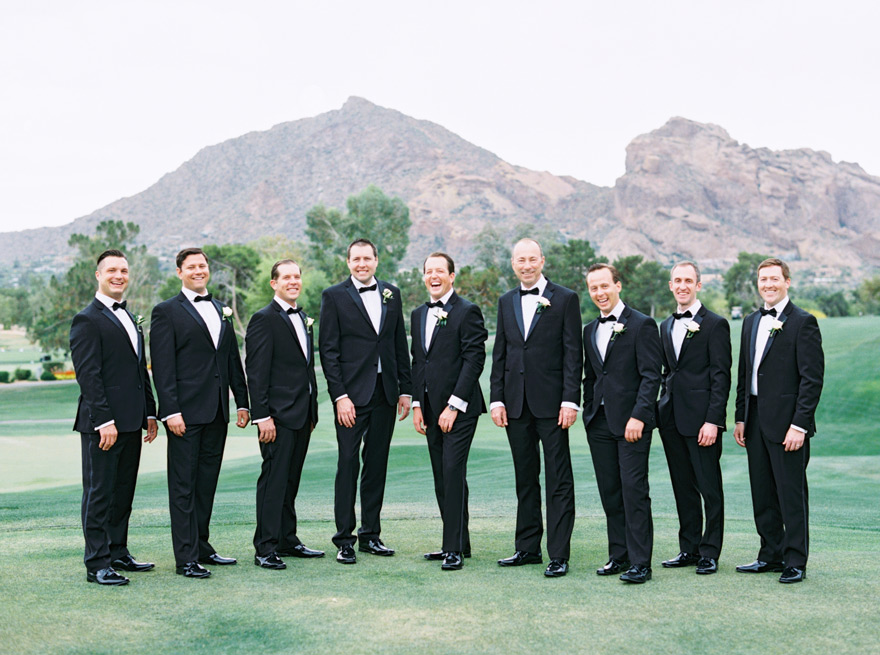 large party of groomsmen at Paradise Valley Country Club