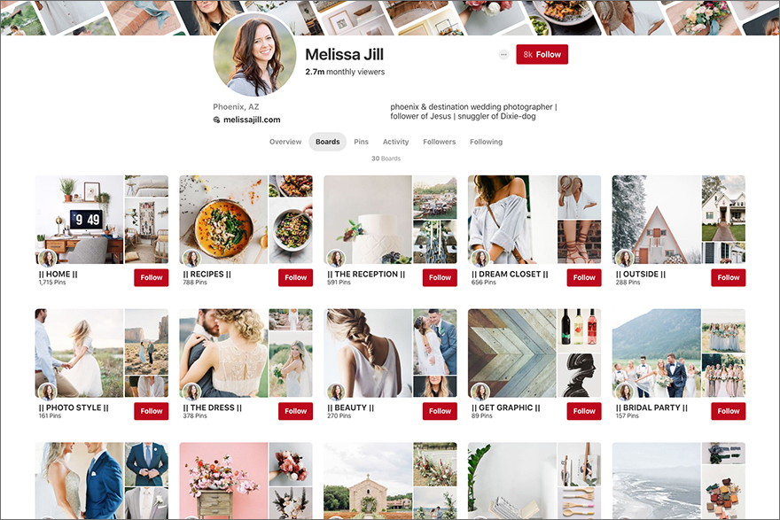 Melissa Jill's Pinterest boards