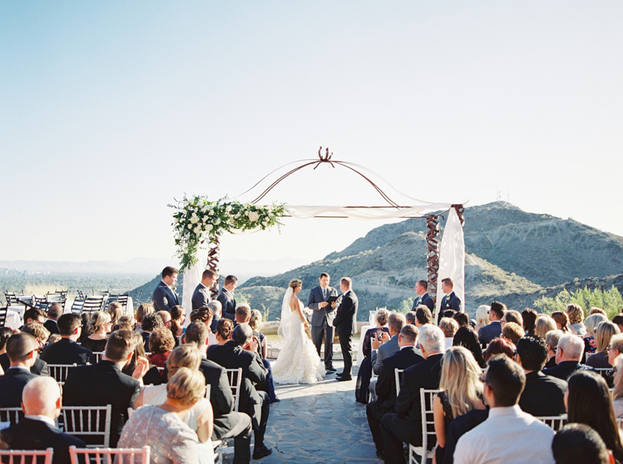 Outdoor wedding ceremony at Different Pointe of View