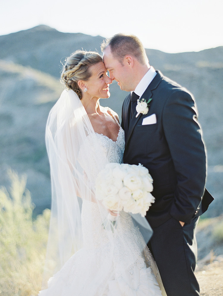 romantic wedding portrait Phoenix desert
