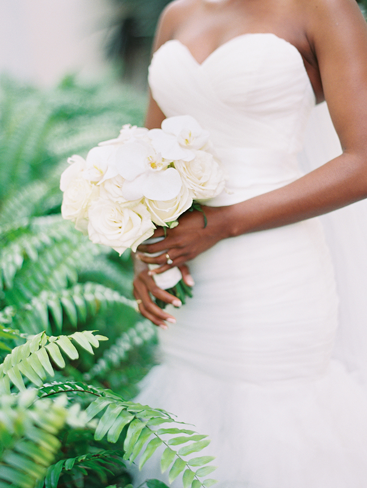 white orchid wedding bouquet -- perfect for a caribbean wedding!
