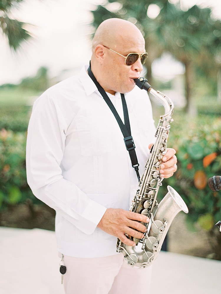 ceremony saxophone music at La Cana Golf Resort