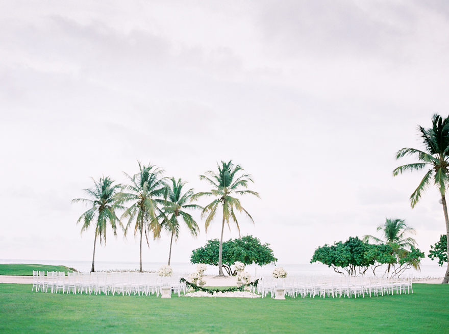 La Cana Golf Resort Wedding Ceremony on the lawn