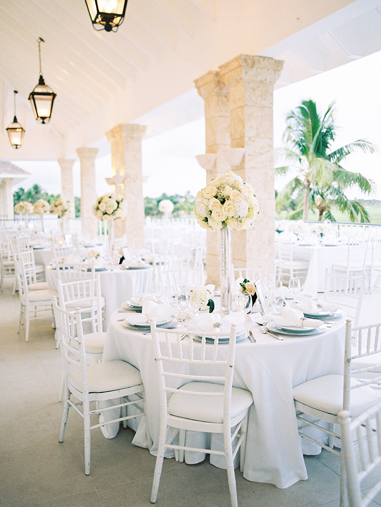 Wedding reception at La Cana Golf Resort