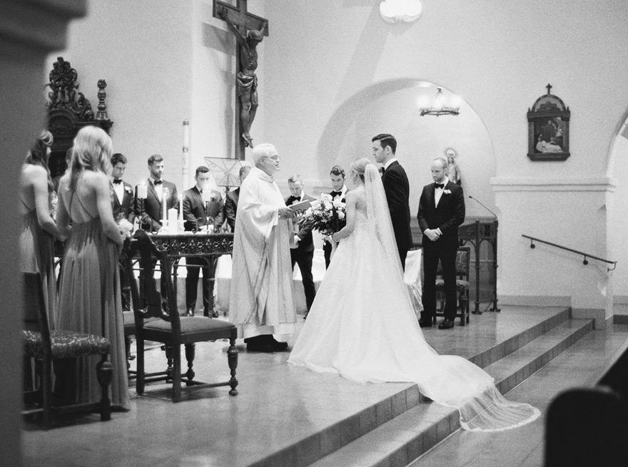 Brophy Chapel wedding ceremony