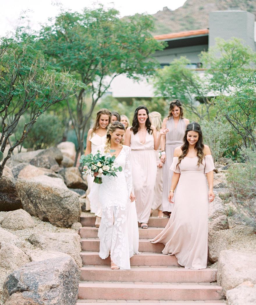 boho bride & bridesmaids