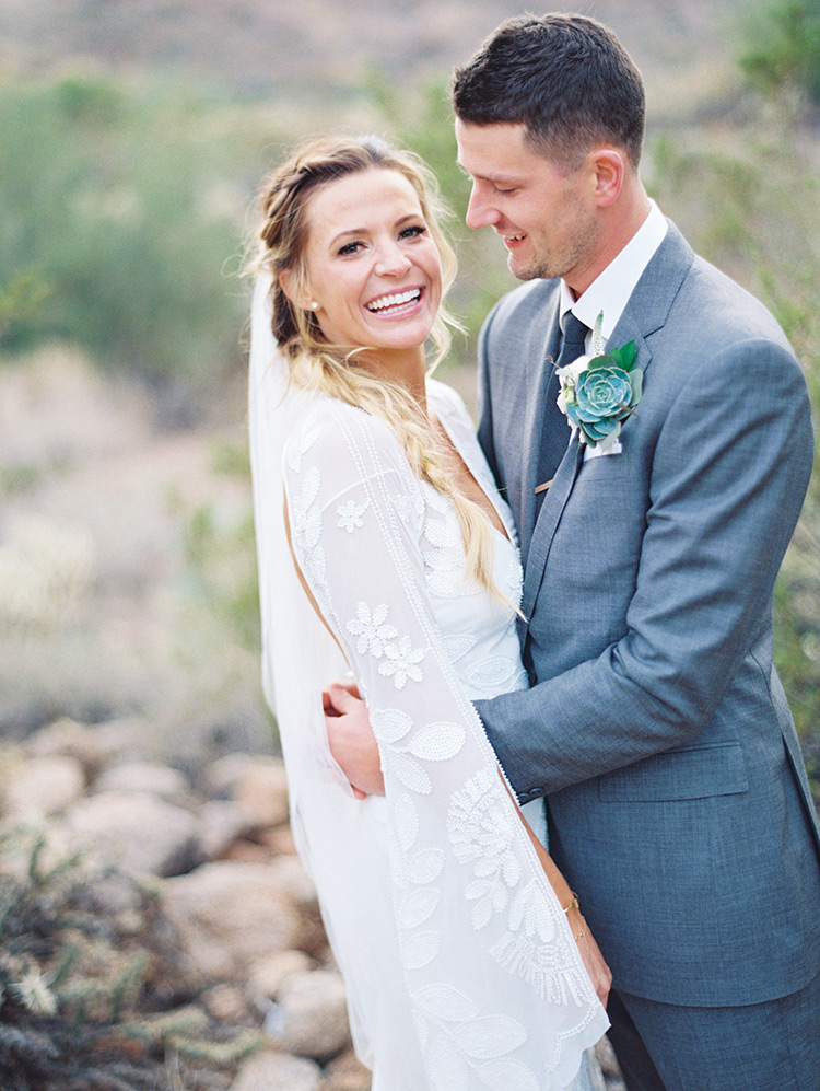 boho bride & groom