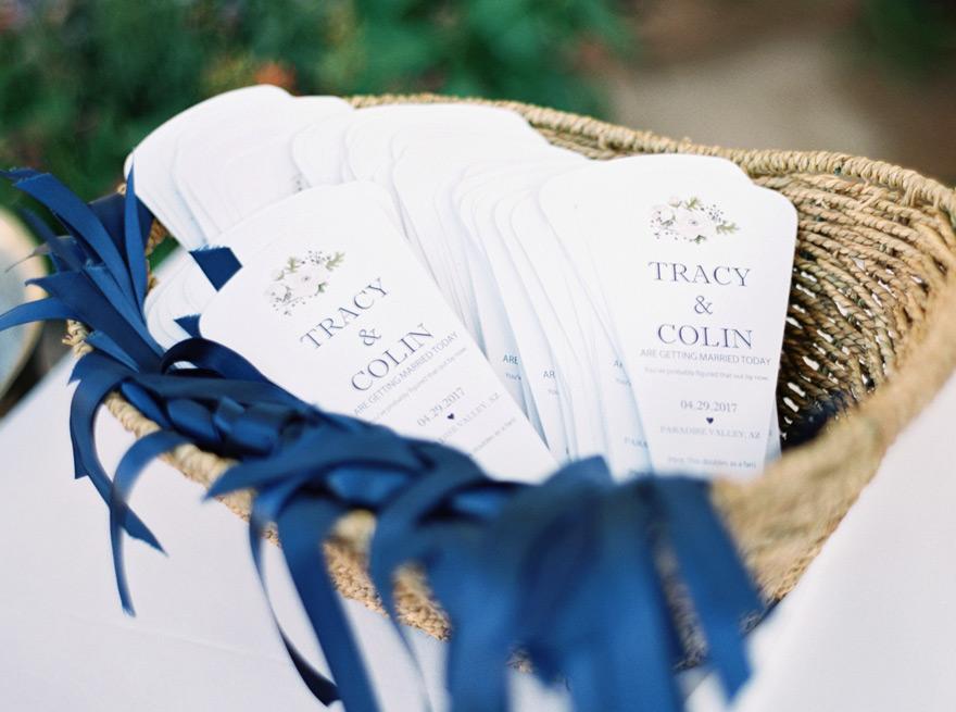 fan-shaped wedding programs