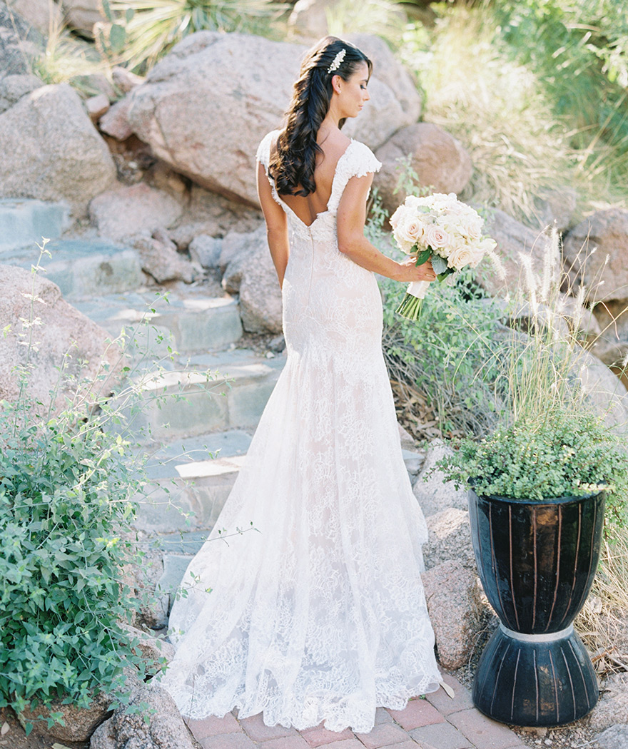 lace wedding gown by Calla Blanche