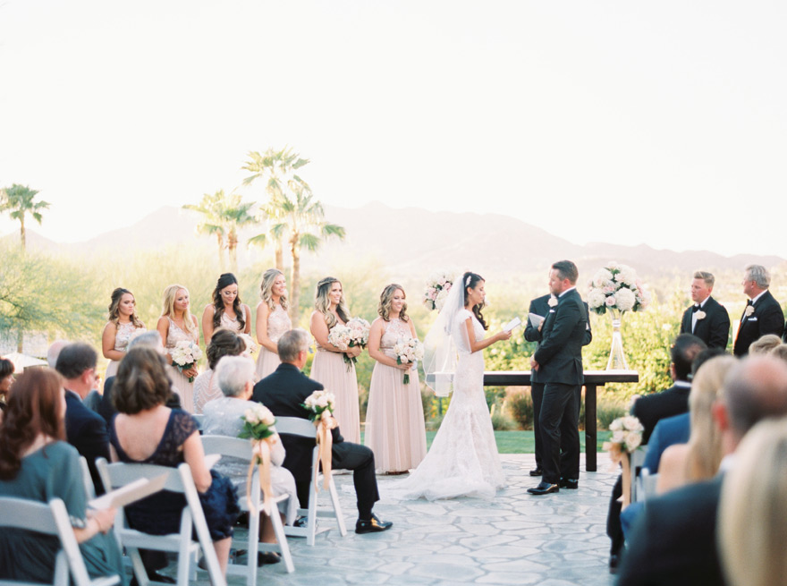 outdoor wedding ceremony at Sanctuary on Camelback