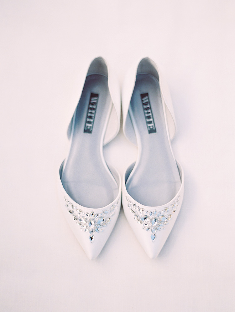 Jeweled bridal flats from White by Vera Wang